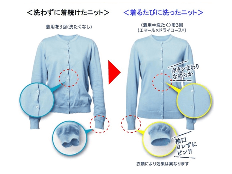 オシャレ着用洗剤『エマール』と特徴
