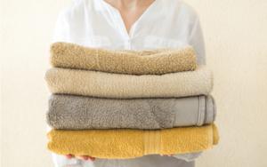 バスタオルの干し方を工夫して早く乾かそう
