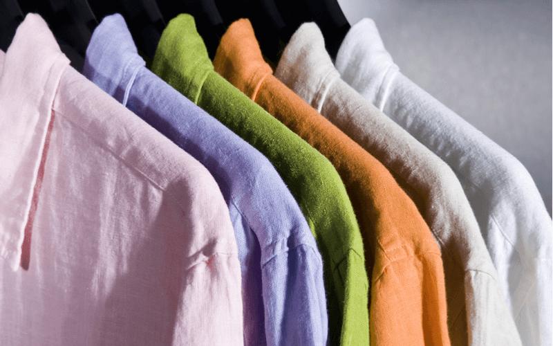 生地の種類によって異なるシャツの干し方