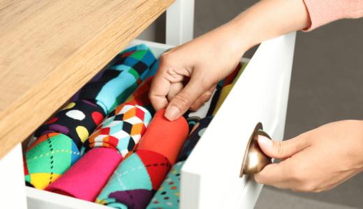 靴下をきれいに収納する方法と便利グッズ7選!引き出しの中で散らばらないたたみ方アイデアも