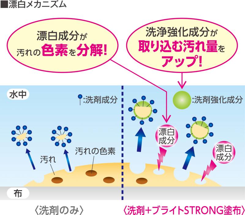 新成分配合の衣料用液体酸素系漂白剤『ブライトSTRONG』を新発売!