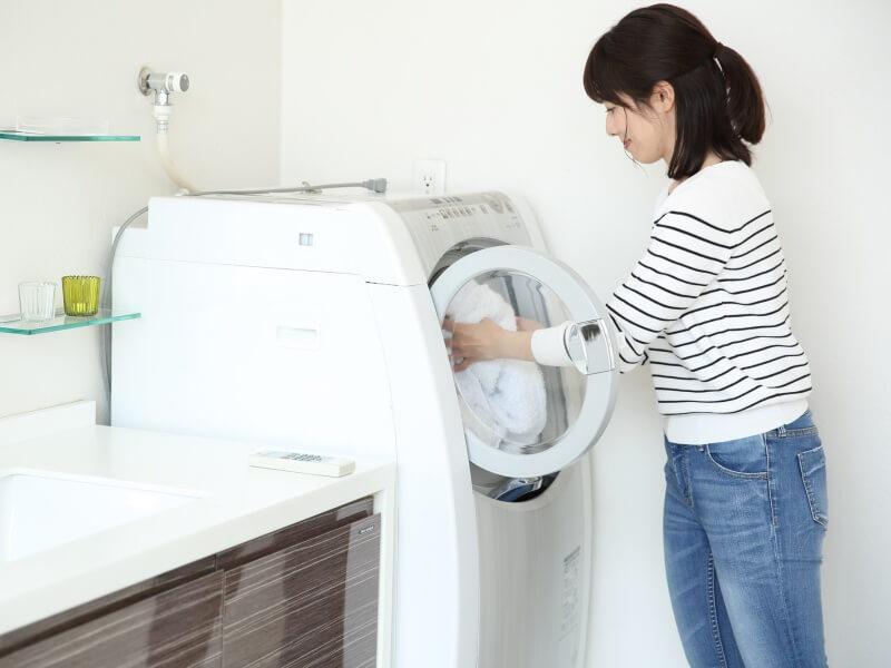 女性 洗濯機