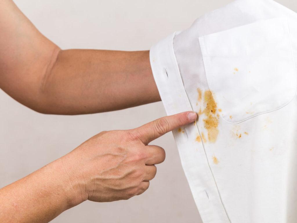 白シャツ シミ