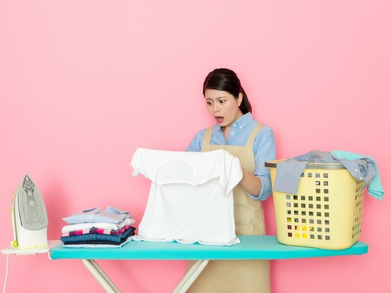 洗濯 シミ発見