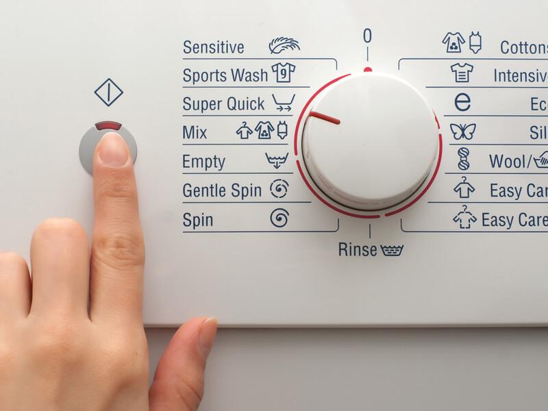 洗濯機のダイヤルとボタン