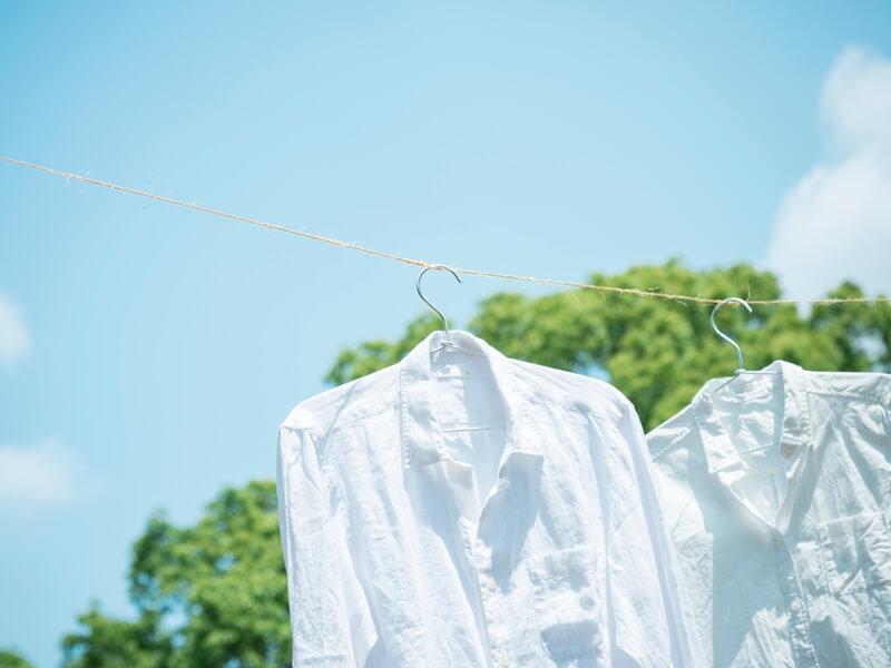 夏空 洗濯