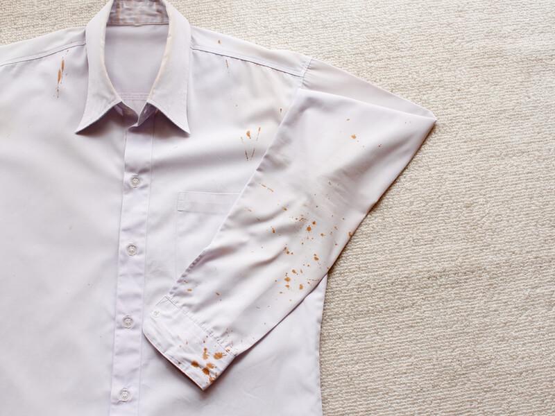 ワイシャツのしみ