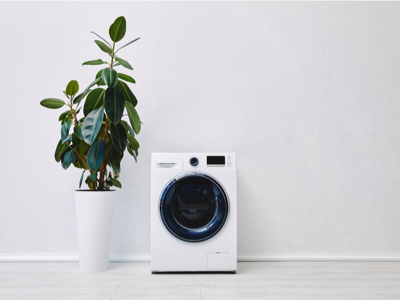 白い乾燥機