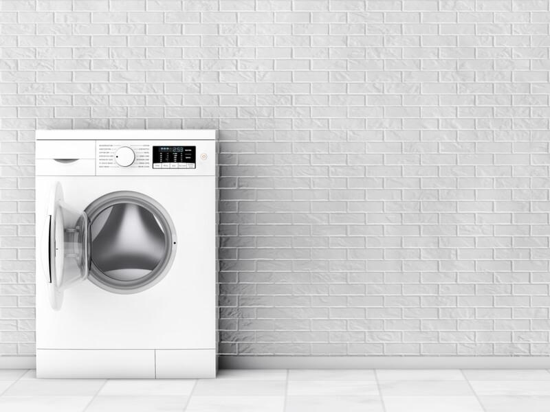 フタが空いている洗濯機