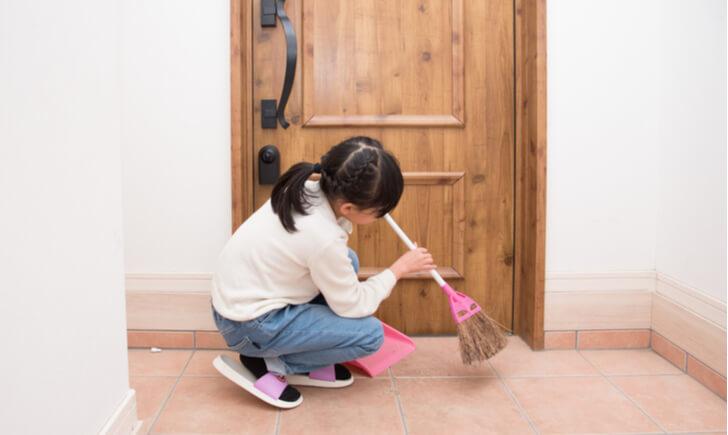 玄関掃除の基本