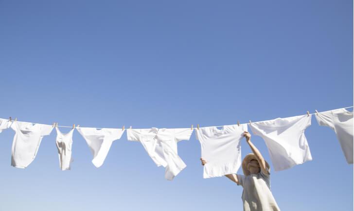 衣類別の干し方・乾燥法