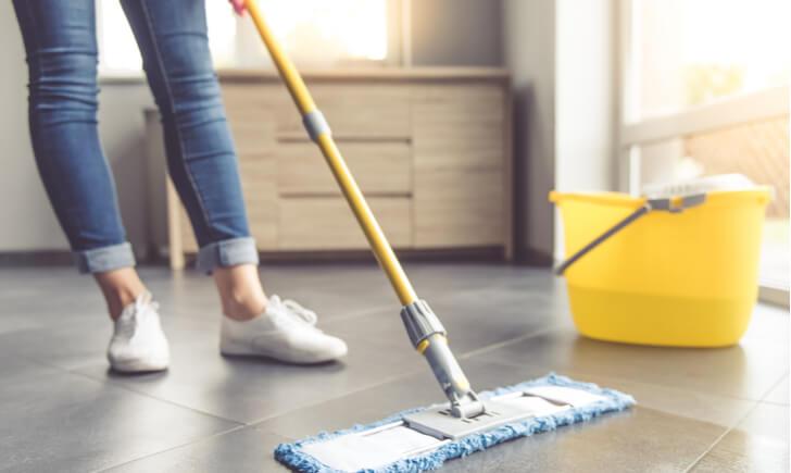 フローリング掃除の手順