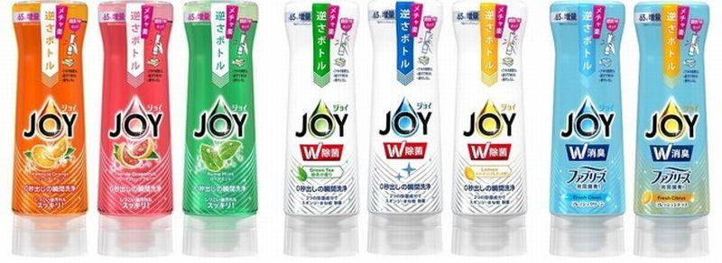 """充実の8種類!""""ジョイ""""の手洗い用液体洗剤シリーズのラインナップ"""